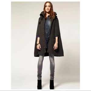 G-Star Jackets & Coats - G-STAR Oxford Knit Bell Cape Gray Chunky Poncho